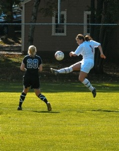 Wesleyan Women's Soccer v. Amherst, Oct. 18, 2008 ; photo by Bill Burkhart