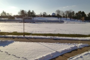 Andrus Field with Snow