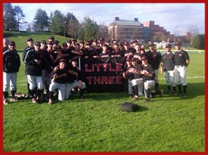 Wesleyan Baseball Little Three Champs