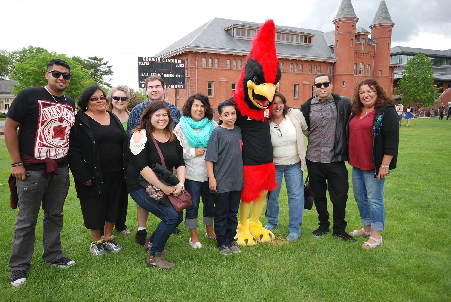 Family with cardinal