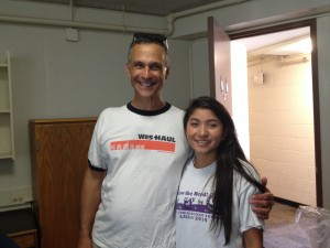 Pres Roth welcomes Ashley Suan '18 to Wesleyan!