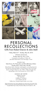 Personal Recollections