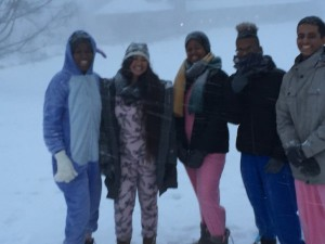 Onesies in the Snow